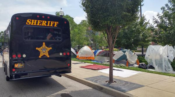 The Third Street homeless camp moved to a strip of land near Jack Casino before being permanantly dismantled.