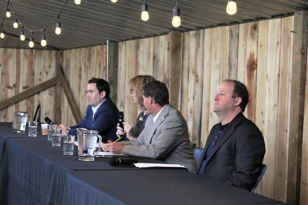 The stage for Friday's gubernatorial debate was more rustic than their other showdowns.
