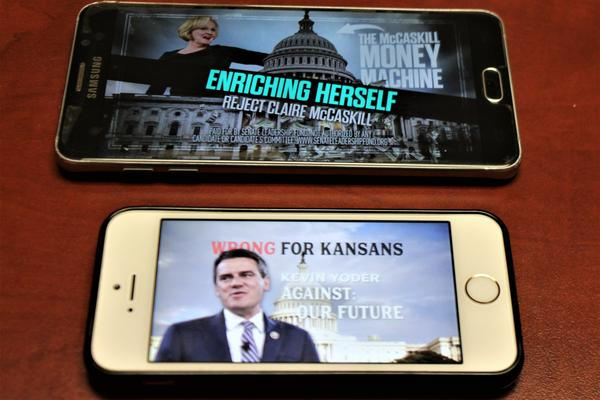 Ads from Senate Leadership Fund and Emily's List target congressional candidates on streaming sites.