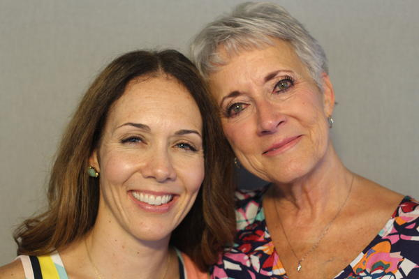Michelle Bertuglia-Haley (left) and Lynn Bertuglia talked about overcoming gender barriers in engineering at the StoryCorps Mobile Tour in Kansas City.