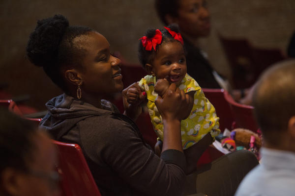 Ifeoma Ibekwe and her daughter Norah Ibekwe at the Show Up for Black Mothers Summit in Austin in March. The Healthier Texas Summit starting Thursday will focus, in part, on high maternal mortality rates among black women in Texas.