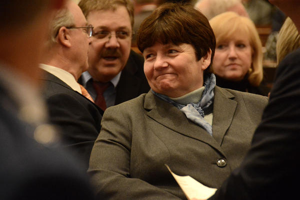State Treasurer Beth Pearce announced Tuesday that Moody's Investors Service has downgraded Vermont's bond rating. Pearce said she plans to work with the governor and lawmakers to restore Vermont's bond rating to triple-A status.