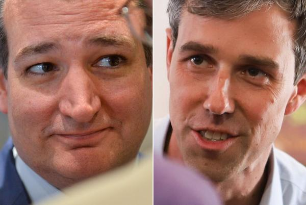 U.S. Sen. Ted Cruz (left) and U.S. Rep Beto O'Rourke, D-El Paso.