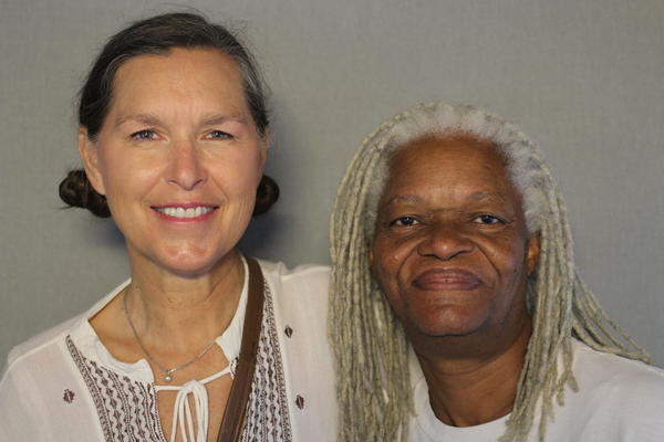 Rebecca Liberty (left) and Necia Gamby discussed their experiences of race growing up in the 1960s and '70s.