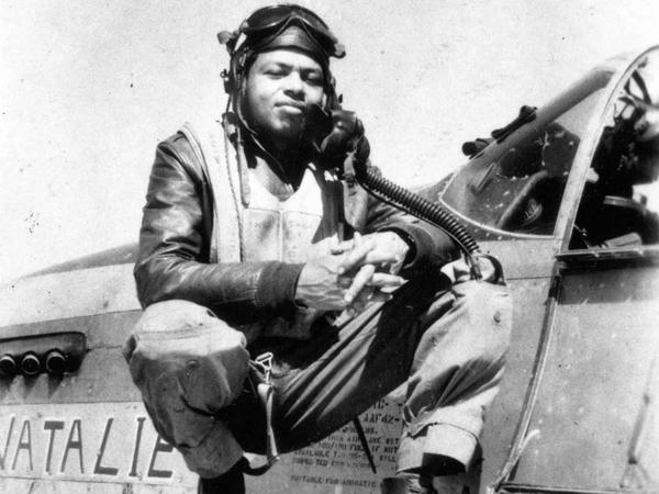 Flight Officer  John Lyle, a member of the famed Tuskegee Airmen.