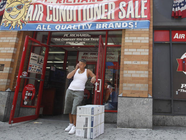 With this summer's temperatures regularly topping 100 degrees, stores did a brisk business selling air conditioners. But they shouldn't be used often, Stan Cox says.