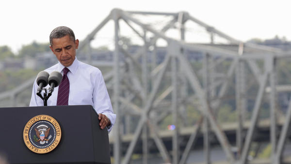 "President Obama on Thursday visited the Brent Spence Bridge, which has been called ""functionally obsolete."" The president pressed Congress to pass his jobs act, arguing that if the country doesn't invest in restoring the bridge and other infrastructure now, it will pay for it later."