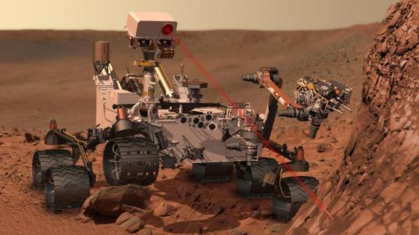 The compact car-sized Mars Science Laboratory is due to land on the red planet on Aug. 6, 2012. It is equipped with a suite of instruments to study rocks and soils, and take other measurements.