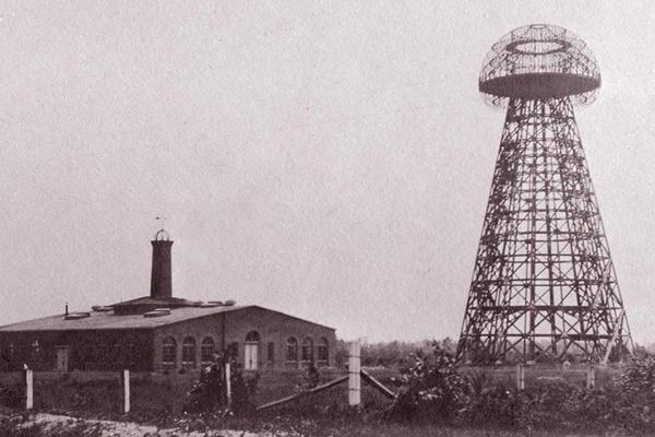 This 1904 photo of Wardenclyffe was taken so that Tesla could go back to J. P. Morgan to try and get the additional funds he needed to finish the tower. Today the Wardenclyffe site is derelict.