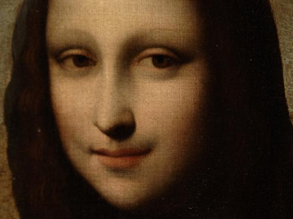 "A closeup from the portrait that a Swiss foundation says is an early ""Mona Lisa"" by Leonard Da Vinci."