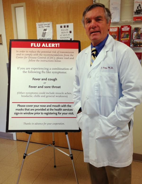 Dr. Tom Nary is the director of health services at Boston College.