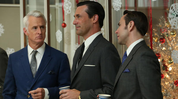 In recent years, high-profile cable TV dramas like AMC's <em>Mad Men</em> have helped to shift audiences and programming across all types of TV networks. (Pictured, from left: John Slattery, Jon Hamm and Vincent Kartheiser)