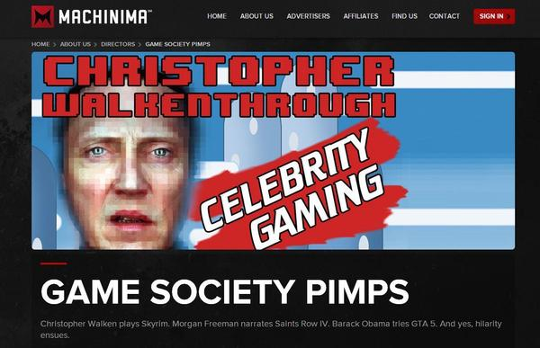 """One of Machinima's signature offerings is a series called <em>Christopher Walkenthrough</em>, in which creator Jason Stephens, in character as actor Christopher Walken, navigates his way through popular video games. You kind of have to <a href=""""http://www.youtube.com/playlist?list=PLnMlh8dHsRY-gGzYnBNI8PrIIa1RT9Us7"""">see it to understand</a>."""
