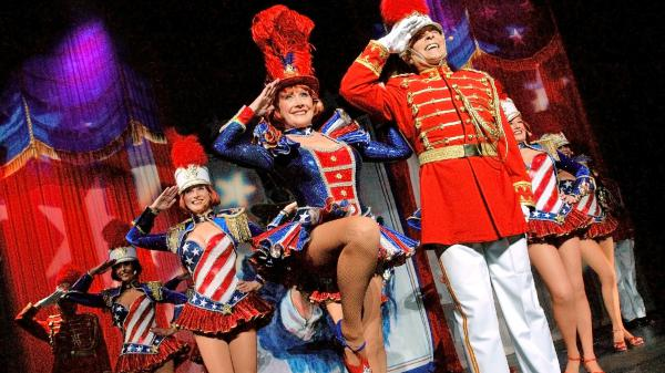 The Palm Springs Follies performances end with a traditional patriotic medley.