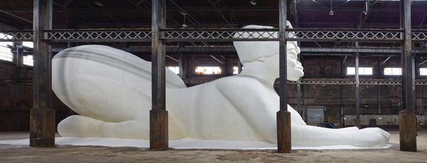Kara Walker's <em>A Subtlety</em> stretches 75.5 feet long, 35.5 feet tall and 26 feet wide.
