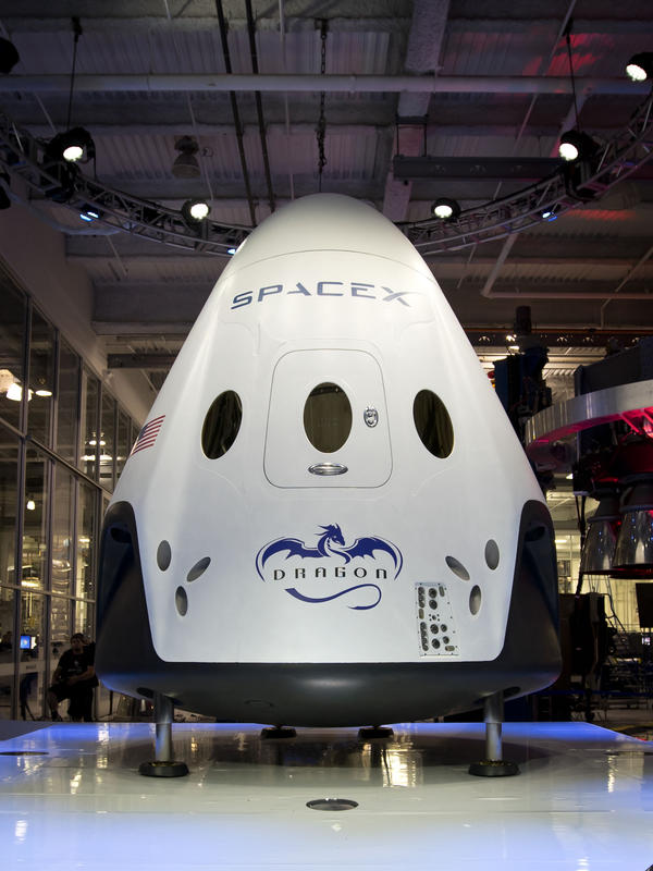 SpaceX's new crew capsule was unveiled yesterday.