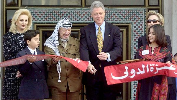 President Bill Clinton cut the ribbon at the airport's opening ceremony in 1998.