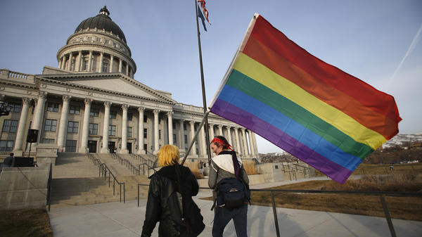 The Supreme Court has denied petitions to review same-sex marriage cases in several states, including Utah. In January, supporters of same-sex marriage held a rally at Utah's Capitol in Salt Lake City.
