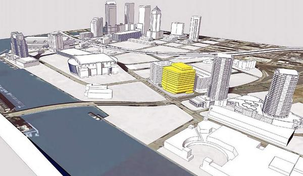 The USF medical school is planned for Meridian Avenue at Channelside Drive in downtown Tampa