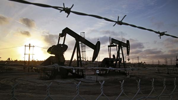 Pumpjacks at the Inglewood oil fields in California in March. Some of the most controversial methods of oil extraction, like fracking, oil sands production and Arctic drilling, are also expensive. That's made them less profitable as the price of oil continues to fall.
