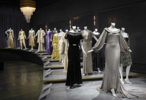 """Hollywood Glamour: Fashion and Jewelry from the Silver Screen"" includes gowns designed by Chanel and Edith Head. The exhibit is open until March 8."