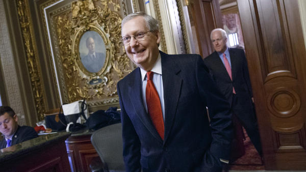 Incoming Senate Majority Leader Mitch McConnell, R-Ky., leaves a closed-door policy meeting at the Capitol on Dec. 2. McConnell says he wants to make the Senate work the way it used to, but not all Republicans are on board.