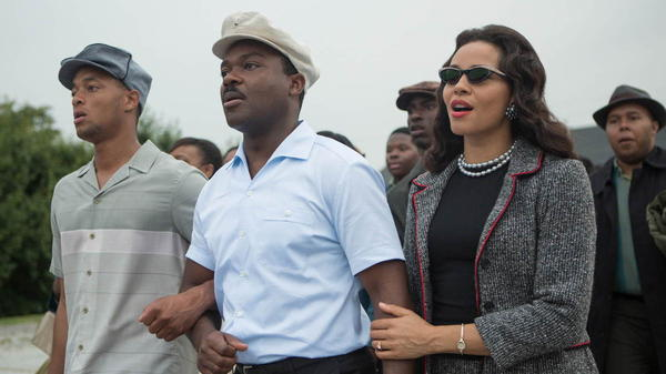 David Oyelowo as Martin Luther King Jr. and Carmen Ejogo as Coretta Scott King in <em>Selma</em>.