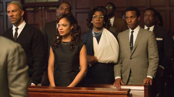 Common plays James Bevel, Tessa Thompson plays Diane Nash, Lorraine Toussaint plays Amelia Boynton and Andre Holland plays Andrew Young in Ava DuVernay's <em>Selma</em>.