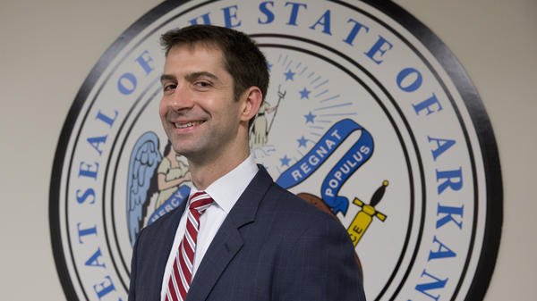 Tom Cotton, R-Ark., the freshman senator and Harvard graduate senator with a record of tough talk on foreign policy.