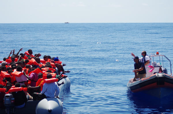 The Migrant Offshore Aid Station (MOAS) carries out its first rescue in the Mediterranean in August 2014. The Malta-based private rescue service founded by a wealthy American and his Italian wife has rescued more than 3,000 migrants since its launch in August 2014.