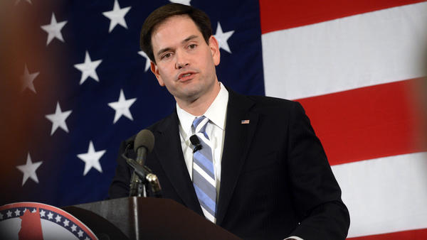 Sen. Marco Rubio speaks at the First in the Nation Republican Leadership Summit in New Hampshire earlier this month.