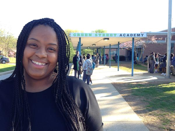 Crystal Harden-Lindsey, 35, is the principal at Green Street Academy in West Baltimore.