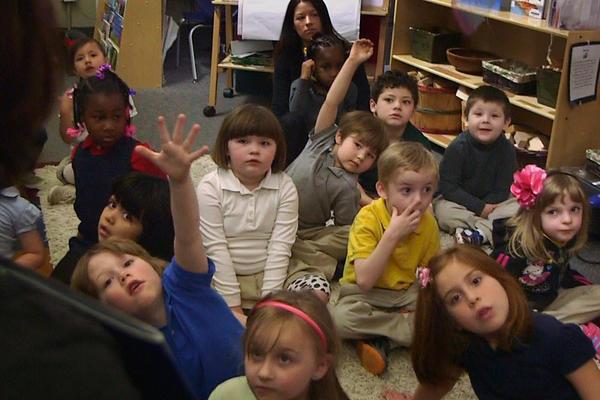 Nikki Jones' preschool class at Porter Early Childhood Development Center in Tulsa, Okla. The state offers free preschool for all kids.
