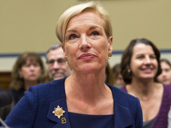 Planned Parenthood Federation of America President Cecile Richards listens while testifying on Capitol Hill in Washington in September.