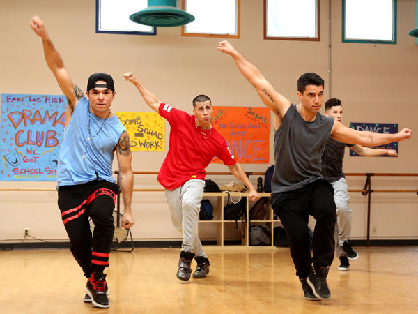 The boys of <em>East Los High</em>'s dance team practice their moves.