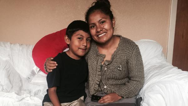 When he started elementary school in Guatemala City, bullying was so bad, Jayro Velazquez (left) decided to stop speaking his native Mam. His mother, Hilda (right), says it pained her to see him reject his roots.