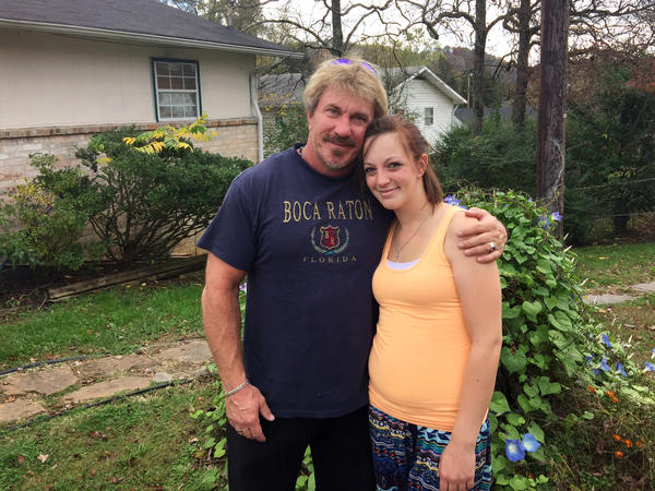 Jessica Roberts and her father, Alan Roberts, who has struggled with addiction himself. They are both clean and hope to break the cycle of addiction with the newest generation of their family.