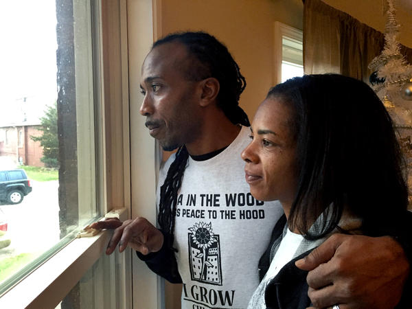 Shango and Karen Johnson at their home in Chicago. Their 9-year-old son, Brendan, is in the third grade.
