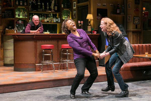 Nottage spent two years getting to know Reading residents as she was writing the characters in <em>Sweat. (</em>Above) Jack Willis as Stan, Kimberly Scott as Cynthia and Johanna Day as Tracey.