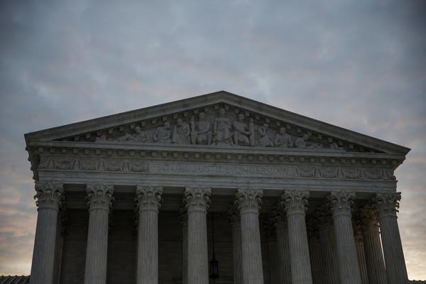 The sun rises over the Supreme Court of the United States in Washington, D.C.