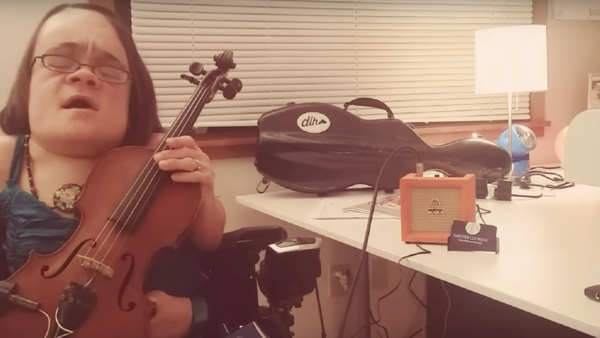 Gaelynn Lea is the winner of the 2016 Tiny Desk Contest.
