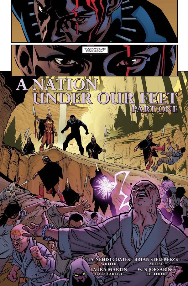 Marvel's <em>Black Panther</em> by writer Ta-Nehisi Coates and artist Brian Stelfreeze.