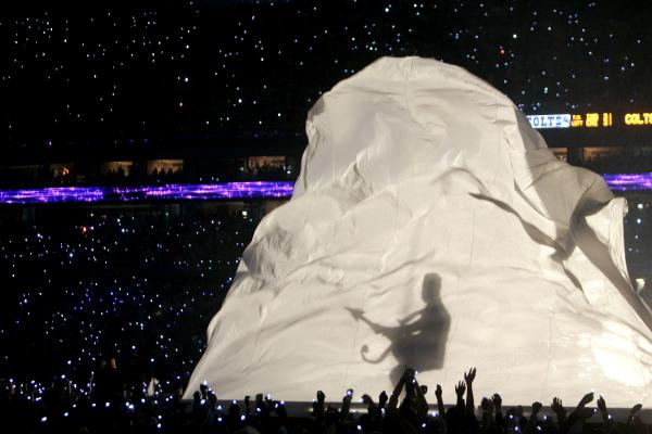 One of Prince's best-known performances took place in pouring rain during the halftime show of the 2007 Super Bowl in Miami.