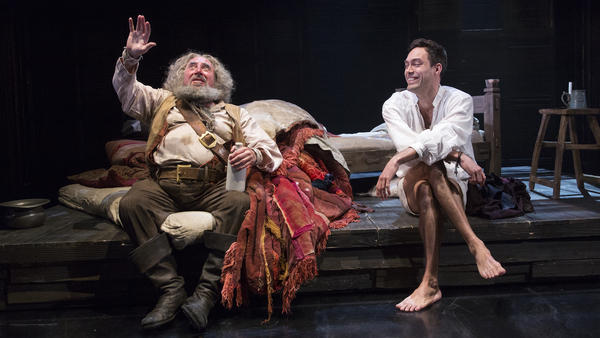 In <em>Henry IV, </em>Sir John Falstaff, played by Antony Sher (left), is a rogue and a liar, but he also serves as a mentor to King Henry IV's son, played by Alex Hassell.