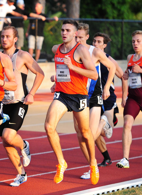 Mike Marsella, center, runs during the ACC Outdoor Championships in Tallahassee this year.