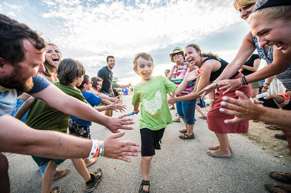 One of the best Newport Folk traditions? The high-five line after Sunday's final performance.