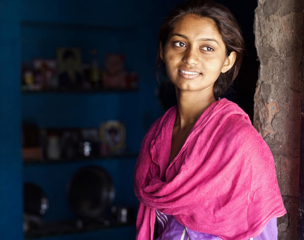 Durga's father says he will ask the elders to break her marriage this fall, once her final exam results come in. She says her dream is to finish college and become a police officer so she can prevent child marriages, which are illegal in India.