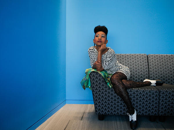 "Alsarah strikes a pose. She calls her music ""East-African Retro-Pop."""