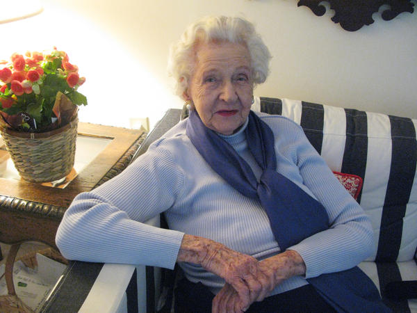 Frances Kolarek turns 99 next week. She was born three years before women won the right to vote. This election she cast her ballot for Hillary Clinton.