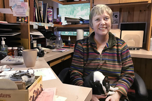 Pat Goetz, 63, has worked in the timber industry since 1986. She lost her job and her health insurance when Tri-Pro abruptly shuttered in October.